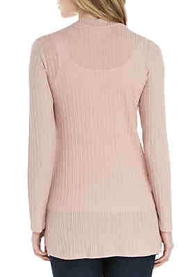 1ae7bccbcaa ... Pink Rose Long Sleeve Pocket Sweater Topper