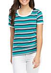 Short Sleeve Striped T Shirt