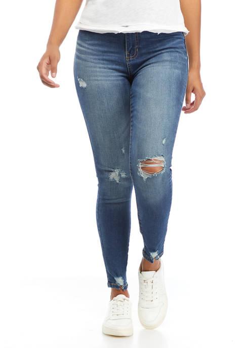 Celebrity Pink Juniors High Rise Destructed Skinny Jeans