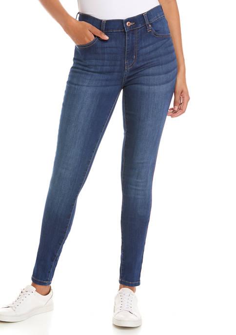Juniors Mid Rise Skinny Jeans