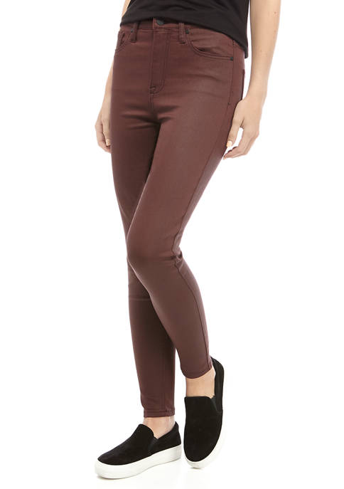 Celebrity Pink High Rise Coated Skinny Ankle Jeans