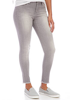 Celebrity Pink Grey Ankle With Fray Hemline Jeans