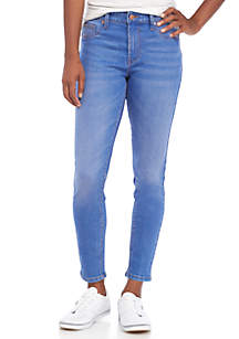 Mid-Rise 5-Pocket Destroyed Skinny Organic Cotton Jeans
