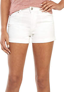 Celebrity Pink Rolled Cuff Twill Shorts