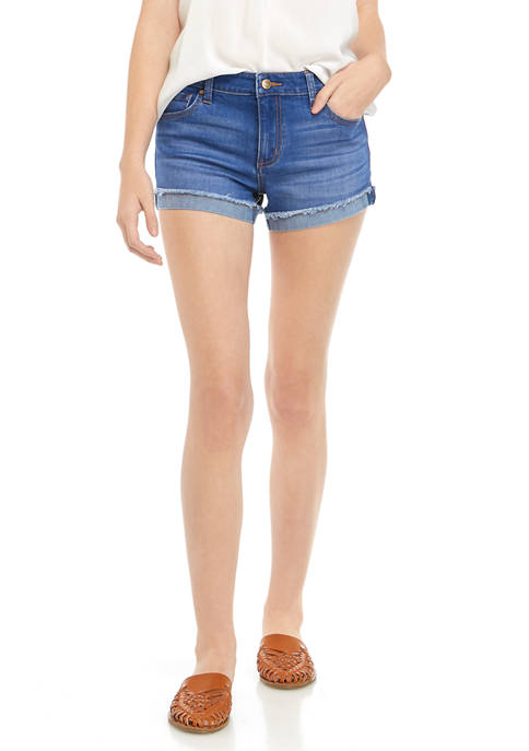Celebrity Pink Juniors Fray Denim Shorts
