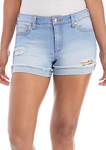 Celebrity Pink Cuffed Fray Hem Shorts