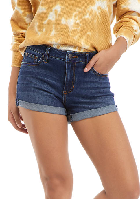 Celebrity Pink Destructed Roll Cuff Shorts