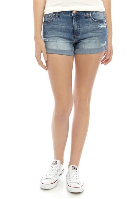Celebrity Pink Juniors Roll Cuff Denim Shorts