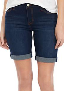 Celebrity Pink Destructed Cuffed Bermuda Shorts
