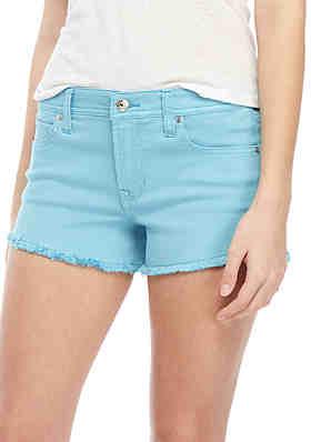 2018b75019 Celebrity Pink Fray Hem Colored Shorts ...