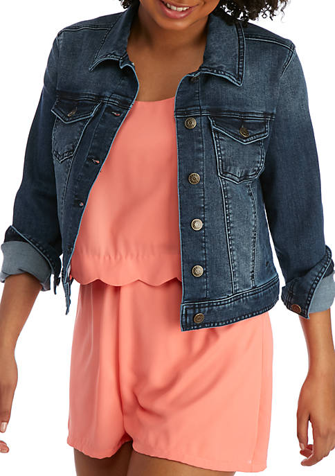 Celebrity Pink Denim Jean Jacket