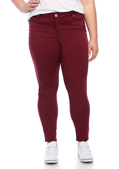 Celebrity Pink Plus Size Medium Rise Skinny Jeans