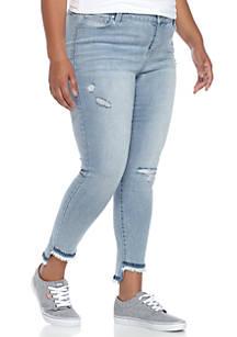 d951bd64258b9 Celebrity Pink. Celebrity Pink Plus Size Frayed Hem Skinny Denim Jean