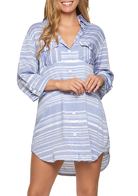 Dotti Shirt Dress with Crochet Back Swim Cover
