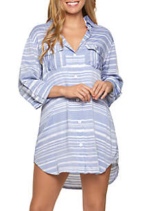 f389542273 ... Dotti Shirt Dress with Crochet Back Swim Cover Up