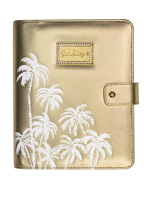 Lilly Pulitzer® Gold Palms Agenda Folio