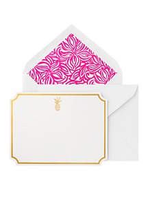 Swirling Floral Thank You Notes