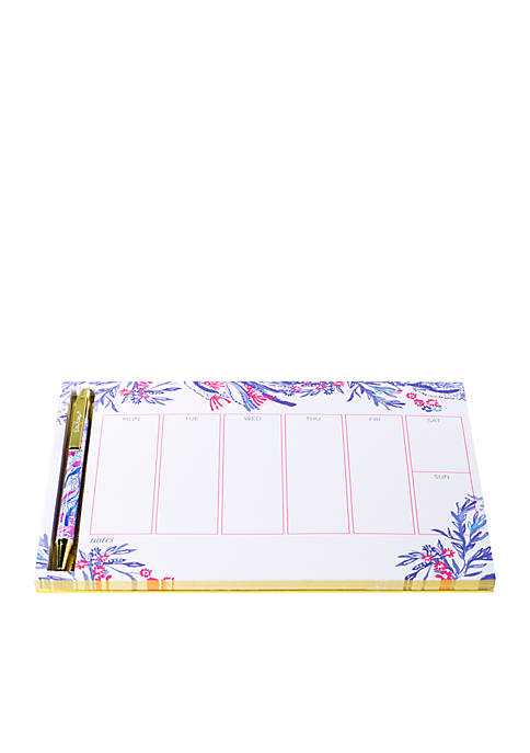 Lilly Pulitzer® Aquadesiac Weekly Desk Pad and Pen
