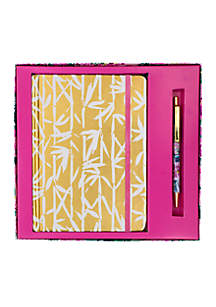 Bamboo Bash Boxed Journal and Pen Set