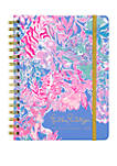 Large August December Viva La Lilly Mylar Tab Agenda