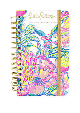 74f86847f43b97 Lilly Pulitzer® Medium August December Fiesta Bamba Mylar Tab Agenda ...