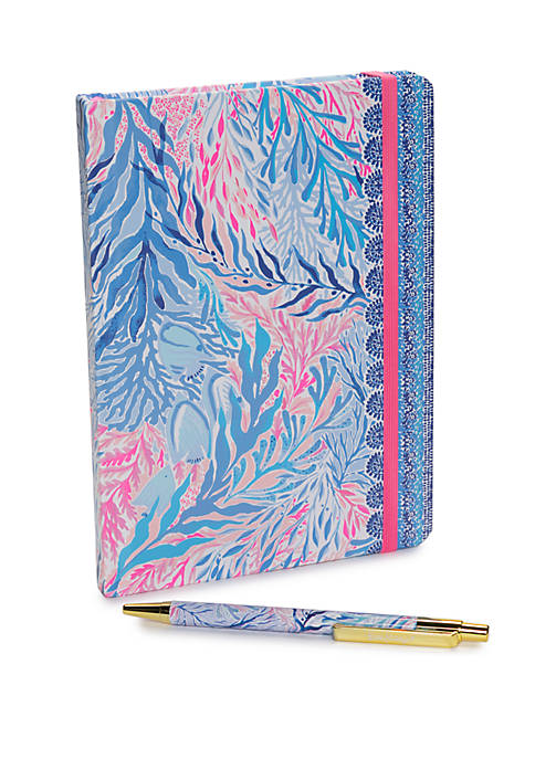Lilly Pulitzer® Kaleidoscope Coral Boxed Journal with Pen