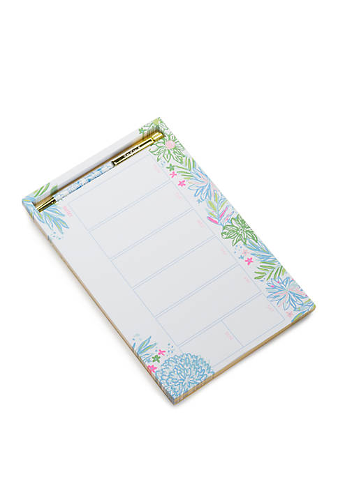 Lilly Pulitzer® Cheek to Cheek Weekly Desk Pad