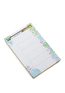 Lilly Pulitzer® Cheek to Cheek Weekly Desk Pad with Pen