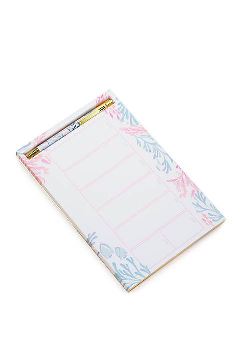 Lilly Pulitzer® Kaleidoscope Coral Weekly Desk Pad