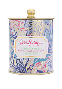 0177e3ac2f07fc ... Lilly Pulitzer® Large Candle Kaleidoscope Coral