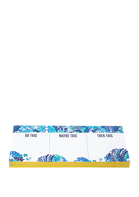 Lilly Pulitzer® Wave After Wave Priorities Notepad