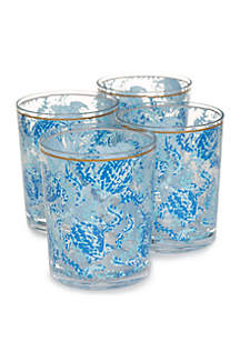 Lilly Pulitzer® Set of 4 Acrylic Lo Ball Turtley Awesome Glasses