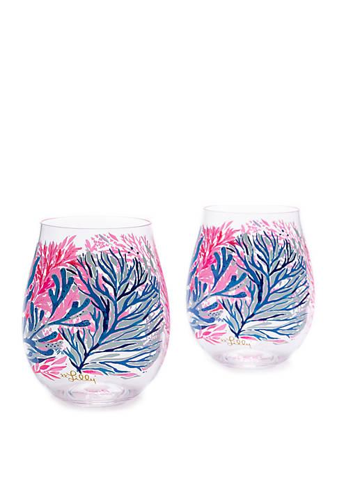 Lilly Pulitzer® Acrylic Wine Glass Set in Kaleidoscope