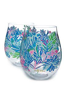 Lilly Pulitzer® Lion Around Acrylic Wine Glass Set