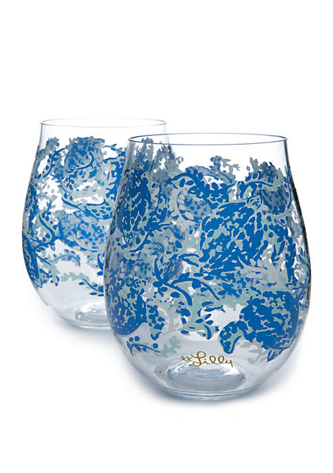 Lilly Pulitzer® Turtley Awesome Acrylic Wine Glass Set