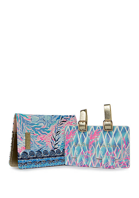 Kaleidoscope Coral Travel Set