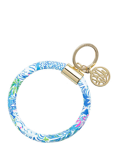 Lion Around Circle Key Chain