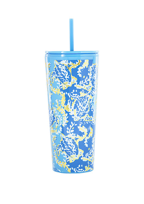 Turtley Awesome Tumbler with Straw