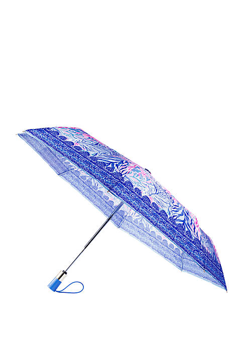 Lilly Pulitzer® Kaleidoscope Coral Travel Umbrella