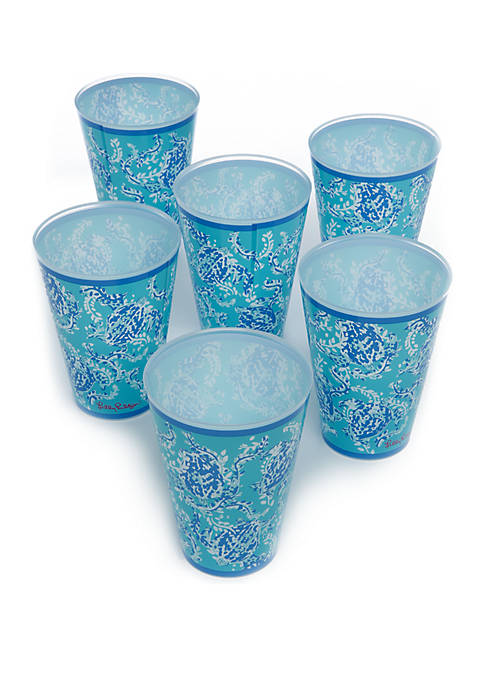 Set of 6 Turtley Awesome Pool Cups