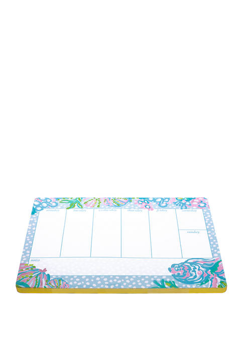 Lilly Pulitzer® Aqua La Vista Weekly Desk Pad