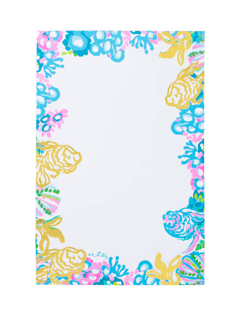 Lilly Pulitzer® Aqua La Vista Notepad