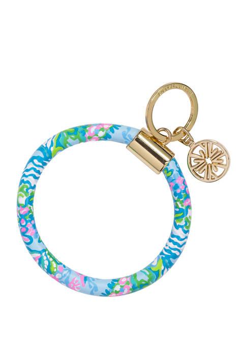 Aqua La Vista Round Keychain