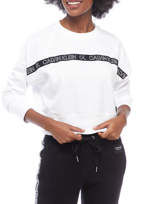 CK Performance Logo Tape Crop Pullover