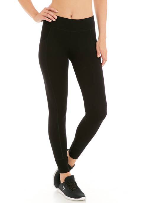Double Waistband Ribbed Cuff 7/8 Leggings