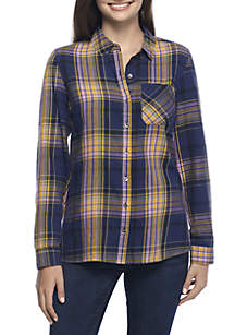 TRUE CRAFT Plaid Button Down Shirt