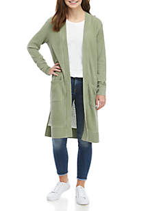 TRUE CRAFT Waffle Knit Duster Top