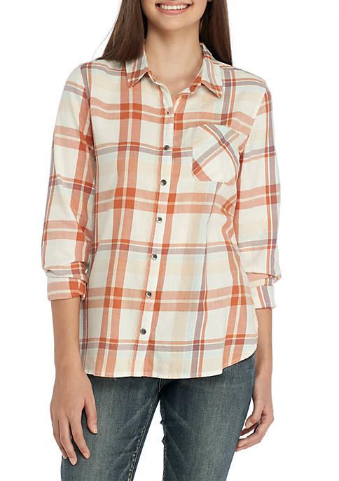 TRUE CRAFT Plaid Button-Up Shirt | belk