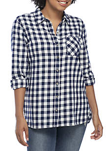 TRUE CRAFT Woven Plaid Shirt