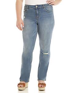 Plus Size Midrise Bootcut Jeans